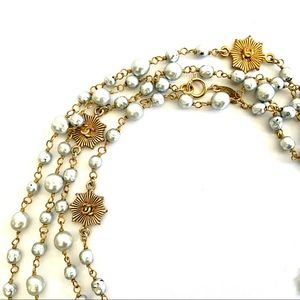 Vintage Authentic Chanel Pearl Gold Necklace